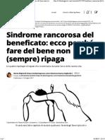 Sindrome Rancorosa Del Beneficato_ Ecco Perché Fare Del Bene Non (Sempre) Ripaga