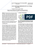 Review of Relay Processes and Design Optimization for Low Voltage Operation