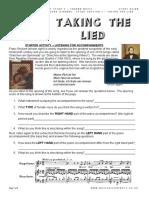 Worksheet on Lieder