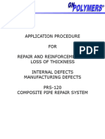 Application Procedure PRS-120 for Internal Defects-Manufacturing Defects