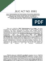 Republic Act No 8981