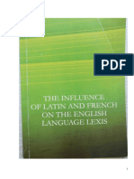 Influence of Latin and French on the English Language Lexis