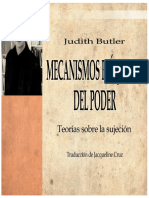 Judith Butler - Mecanismos Psíquicos Del Poder[1]