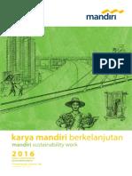 Sustainability Report 2016 PT Bank Mandiri Persero Tbk