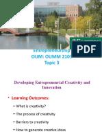 Entrepreneurship Topic 3
