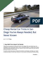 Renty Biz 2017-06-12 Cheap Rental Car Tricks San Diego Youve Always Needed Never Known