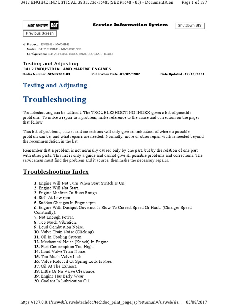 3412 fuel pump testing and adjusting diesel engine engines rh es scribd com