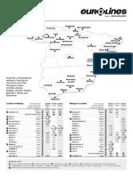 Eurolines Spain Timetable