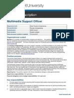 Jul PD - Multimedia Support Officer #563403