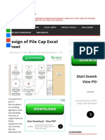 Design of Pile Cap Excel Sheet