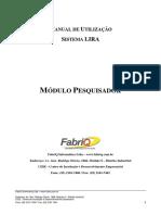 Manual Pesquisador (PIBIC - Portal Lira)