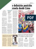 Cancilleres Definirán Posición Sobre Venezuela Desde Lima