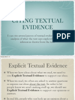 textual evidence powerpoint