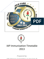 App for IAP Immunization Timetable 2013