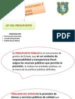 LEY DE PRESUPUESTO 2017 EN PERU