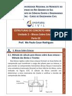 Estruturas de Concreto Armado III - Blocos Sobre Duas Estacas
