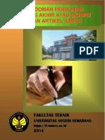 Pedoman Penulisan TA Atau Skripsi Dan Karya Ilmiah Ft 2014
