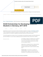 KAAD Scholarships for Developing Countries 2017