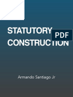 Statutory Construction