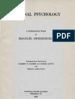 Em Swedenborg RATIONAL PSYCHOLOGY Being Part Seven of the Animal Kingdom 1742 Norbert H Rogers Alfred Acton SSA 1950