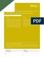 Renacer de La Educación Popular Como