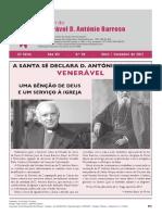 Boletim n.º  XX do Venerável D. António Barroso