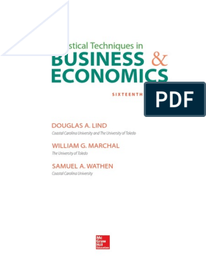 Statistical Techniques in Business & economics pdf | Mean