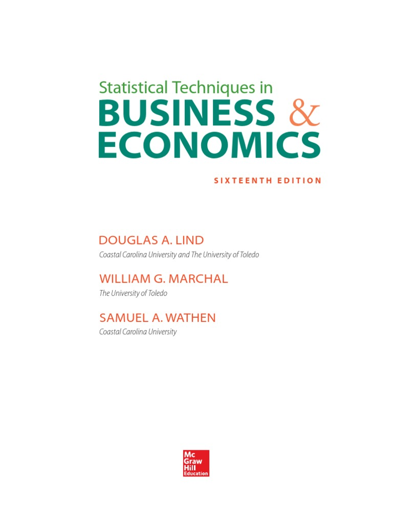 test bank statistical techniques in business and economics Test bank for statistical techniques in business and economics 15th edition  chapter 01 what is statistics true / false questions a population is a collection of.