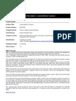 PD Lecturer_Senior Lecturer_Advanced Manufacturing