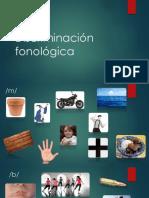 Discriminación Fonológica b m p