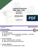 Aerospace Propulsion Lec 1 Intro