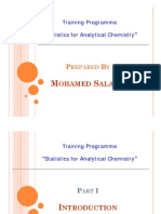 Statistics for Analytical Chemistry