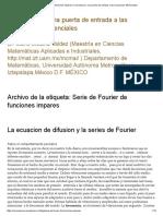 Serie de Fourier de Funciones Impares _ Ceromascero, Una Puerta de Entrada a Las Ecuaciones Diferenciales