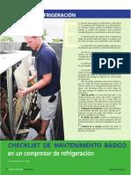 Check List Mantenimiento Compresores