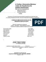 Tarifa de Los Profesionales de La Arquitectura- Salazar 1 1