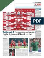 La Provincia Di Cremona 08-08-2017 - Serie B