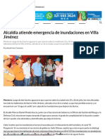25-07-2017 Alcaldía atiende emergencia de inundaciones en Villa Jiménez