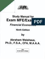 Abraham Weishaus-Study Manual for Exam MFE. Financial Economics-ASM Press
