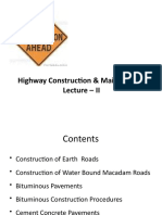 Highway Construction & Maintenance- II