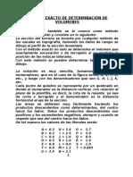 Método Exácto de Determinación de Volumenes