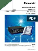 panasonic kx ncp500 1000 installation manual pdf secure digital rh scribd com panasonic ncp1000 installation manual Panasonic.comsupportbycncompass