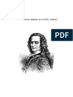 La Tolerancia Religiosa en El XVIII Voltaire