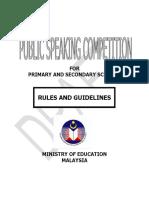Public Speaking Rules