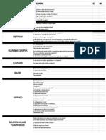 Tabla de criterio para páginas web