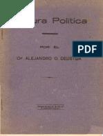 Cultura Política. Por el Dr. Alejandro O. Deustua