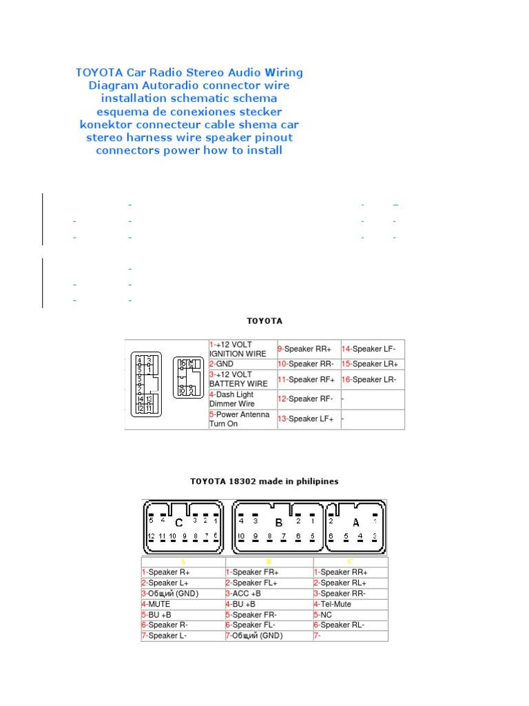 Wiring Toyota Diagram 86120 58070 Wiring Diagram Schematic 2003 Toyota  Stereo Wire Colors Toyota 86120 33060 Wiring Diagram