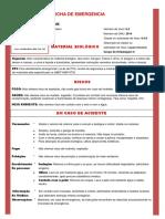 Modelo Ficha de Emergência - Material Biológica