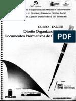 Curso Taller Diseñño Organizacional y Documentos Normativos de Gestion
