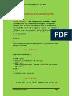 La fuerza electromotriz/ F.E.M / Ejercicios resueltos