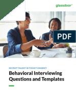 Glassdoor Behavioral Interviewing Questions Templates eBook 2017